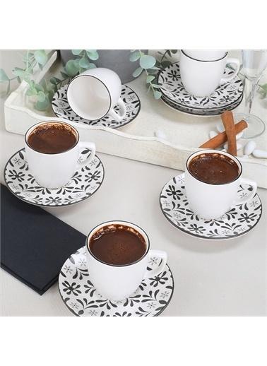 Keramika Keramika Tuli Kahve Takımı 12 Parça 6 Kişilik - 19302 Renkli